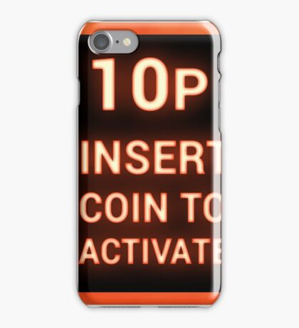 10p insert coin to activate iPhone Case/Skin