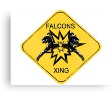 Falcons Xing Canvas Print