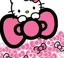 pink bow hello kitty  by Presiosa04