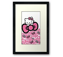 pink bow hello kitty  Framed Print