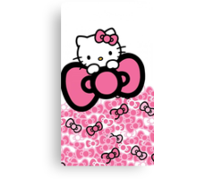pink bow hello kitty  Canvas Print