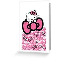 pink bow hello kitty  Greeting Card