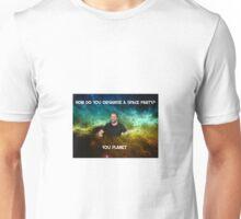 Lame dad space joke ft Mark Sheppard Unisex T-Shirt