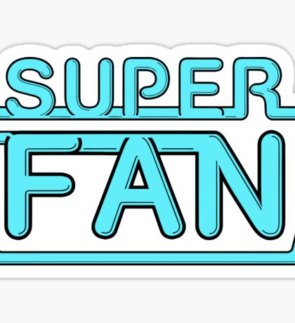 Super Fan - Neon logo (blue) Sticker