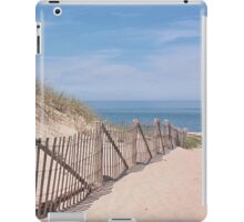 Early summer days at the beach iPad Case/Skin
