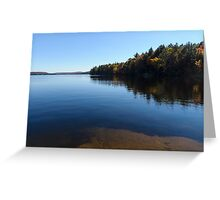 A Blue Autumn Afternoon - Algonquin Lake Serenity Greeting Card