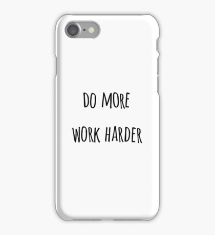 WORK HARDER iPhone Case/Skin