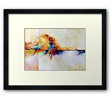 Abstract Art Patterns Red White Colorful Framed Print