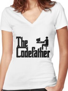 The Codefather Women's Fitted V-Neck T-Shirt
