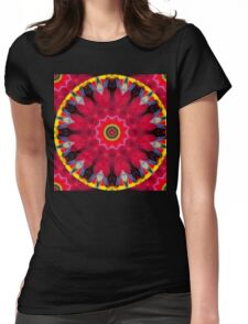 Feather Mandala 9 Womens Fitted T-Shirt