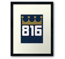 KC Royals: 816 Framed Print