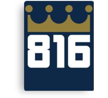 KC Royals: 816 Canvas Print