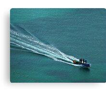 Off to work - Windjammer Bay, Saint Lucia Canvas Print