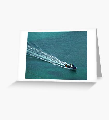 Off to work - Windjammer Bay, Saint Lucia Greeting Card