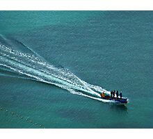 Off to work - Windjammer Bay, Saint Lucia Photographic Print