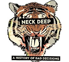 neck deep - a history of bad decisions  Photographic Print