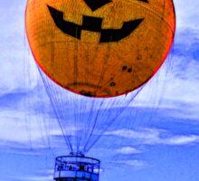 Jack O' Lantern Balloon Sticker