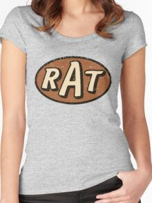 RAT - weathered/distressed Women's Fitted Scoop T-Shirt