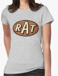 RAT - weathered/distressed Womens Fitted T-Shirt