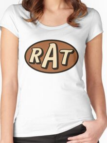 RAT - solid Women's Fitted Scoop T-Shirt