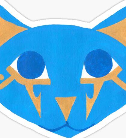 Blue Egyptian Cat Sticker