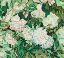 Vincent Van Gogh - Roses 1890 Sticker