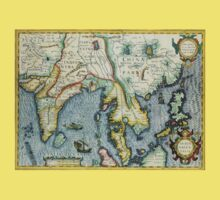 Southern Asian Continent Map 1600s Kids Clothes