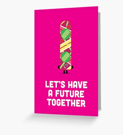 Character Building - Valentines - Hoverboard - Future Greeting Card