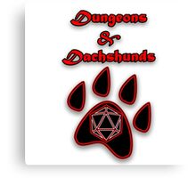 D&D Dungeons and Dachshunds Canvas Print