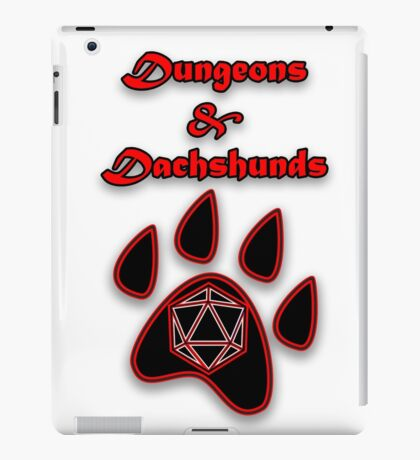 D&D Dungeons and Dachshunds iPad Case/Skin