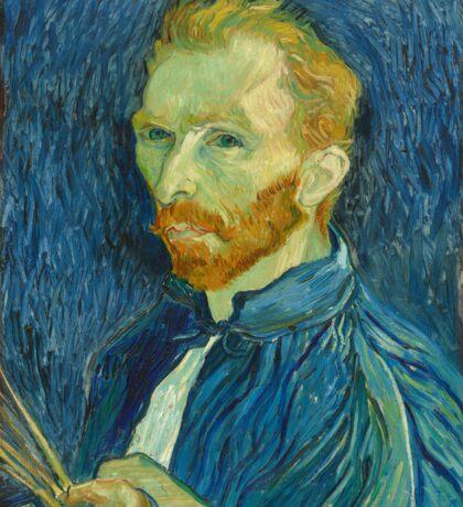 Vincent Van Gogh Self Portrait 1889 Sticker