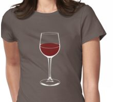 Wine Glass Womens Fitted T-Shirt
