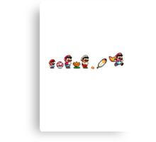 Evolution of Super Mario Canvas Print