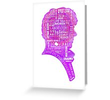 Sherlock typography (pink) Greeting Card