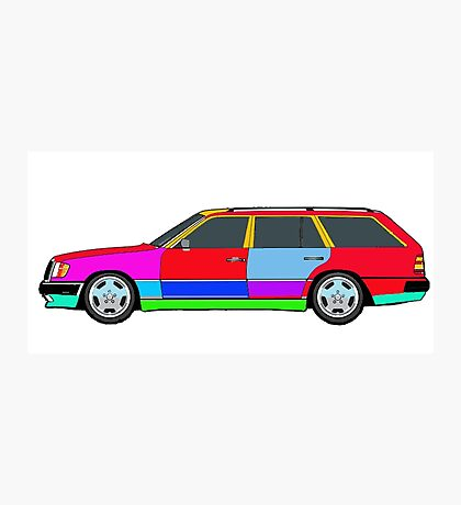 Mercedes W124 300TE Photographic Print