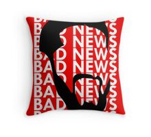 The Face of Bad News Throw Pillow