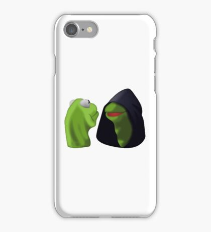 Evil Kermit / Kermit To Kermit Meme iPhone Case/Skin