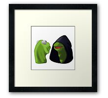 Evil Kermit / Kermit To Kermit Meme Framed Print