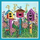 Summer Garden (square) by Lisa Frances Judd~QuirkyHappyArt
