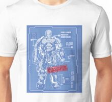 BLUEPRINT TEE - POWER IRON ARMOR Unisex T-Shirt