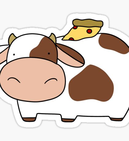 Pizza Cow Sticker