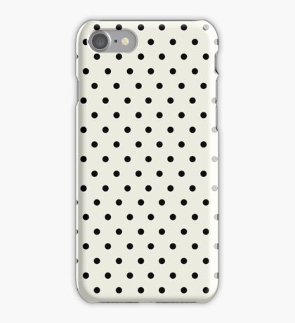 Black and Ivory Elegant Polka Dots iPhone Case/Skin