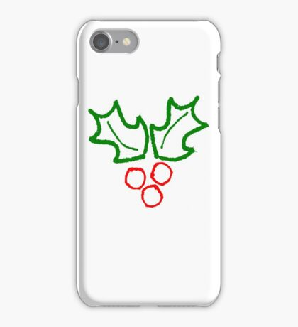 Simple Holly Sprig iPhone Case/Skin