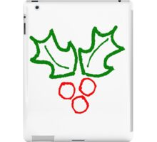 Simple Holly Sprig iPad Case/Skin