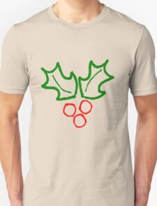 Simple Holly Sprig Unisex T-Shirt