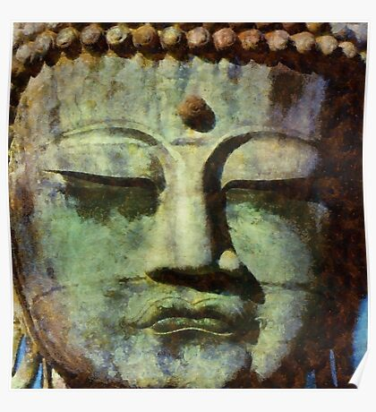 Peaceful Buddha by Sarah Kirk Poster