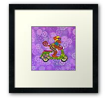 Vespa Monkey Business Framed Print