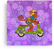 Vespa Monkey Business Canvas Print