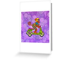 Vespa Monkey Business Greeting Card