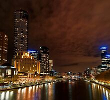 Southbank Twilight - Melbourne, Australia by Norman Repacholi